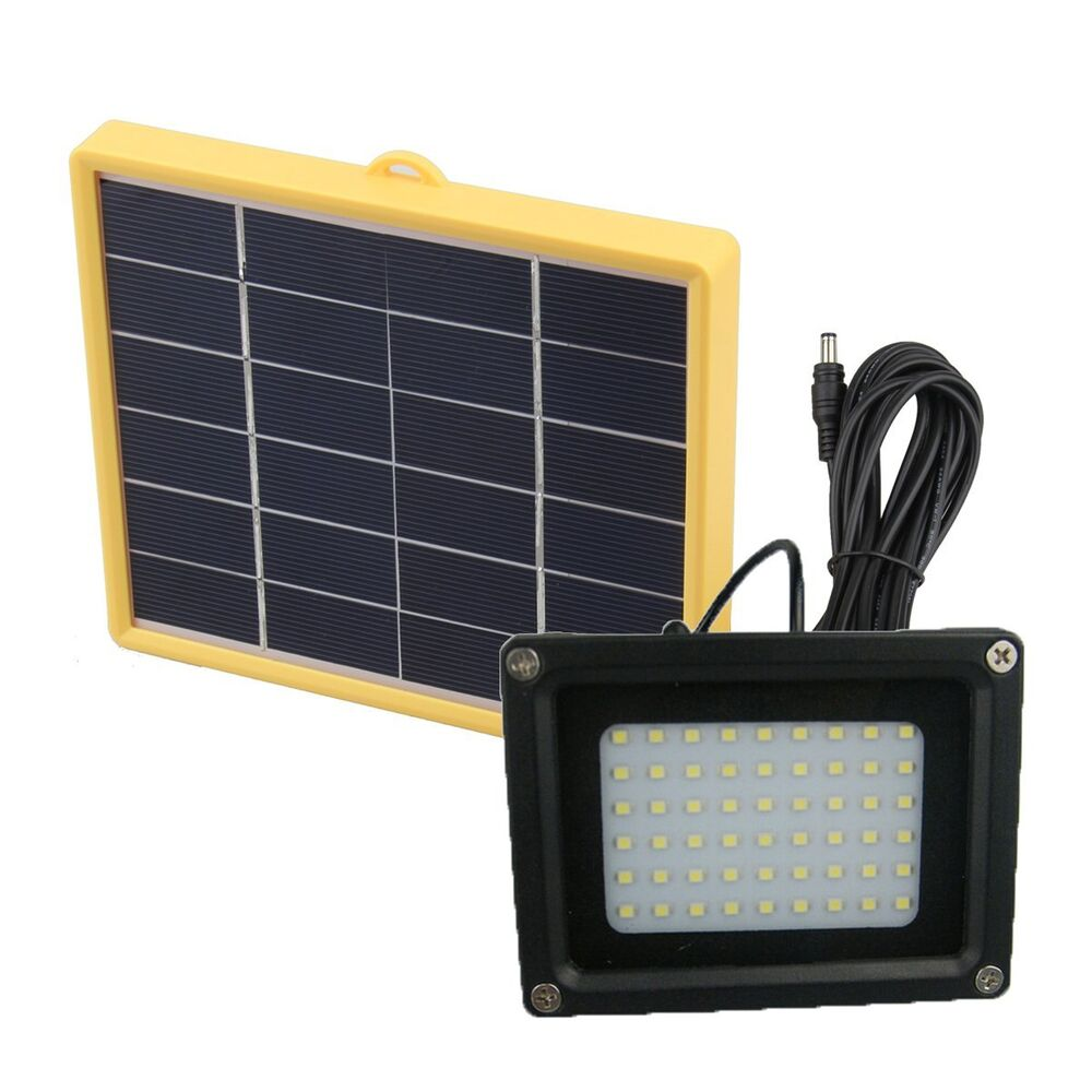 Solar powered 54 led outdoor waterproof dusk to dawn for Led yard lights