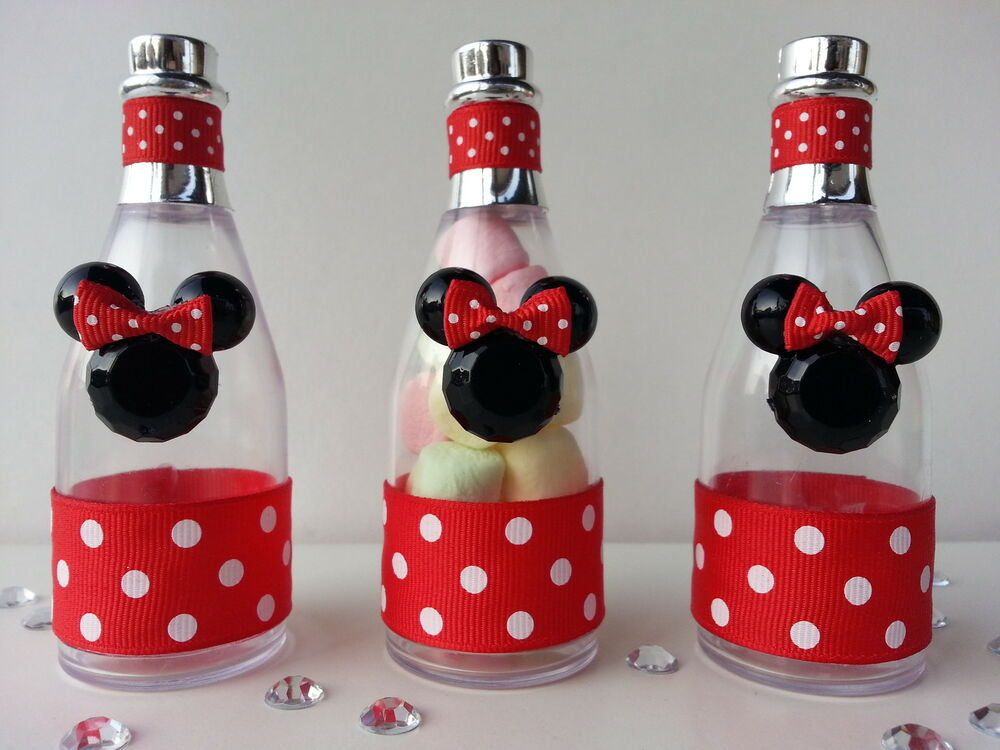 12 minnie mouse fillable champagne bottles baby shower favor game