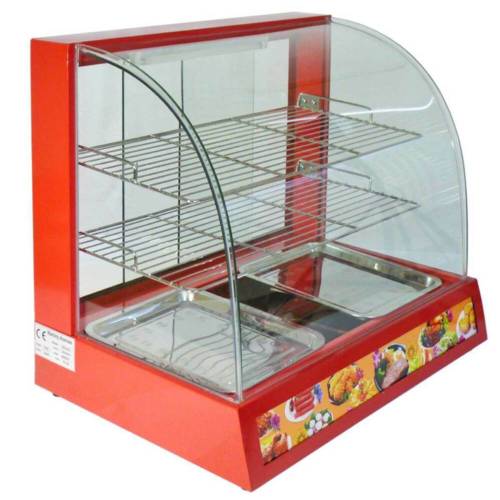 Hot Food Warming Electric Display Cabinet Counter Pie