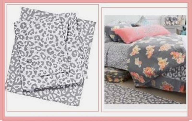 Victoria S Secret Pink Leopard Bed Sheets Case Dorm Gray