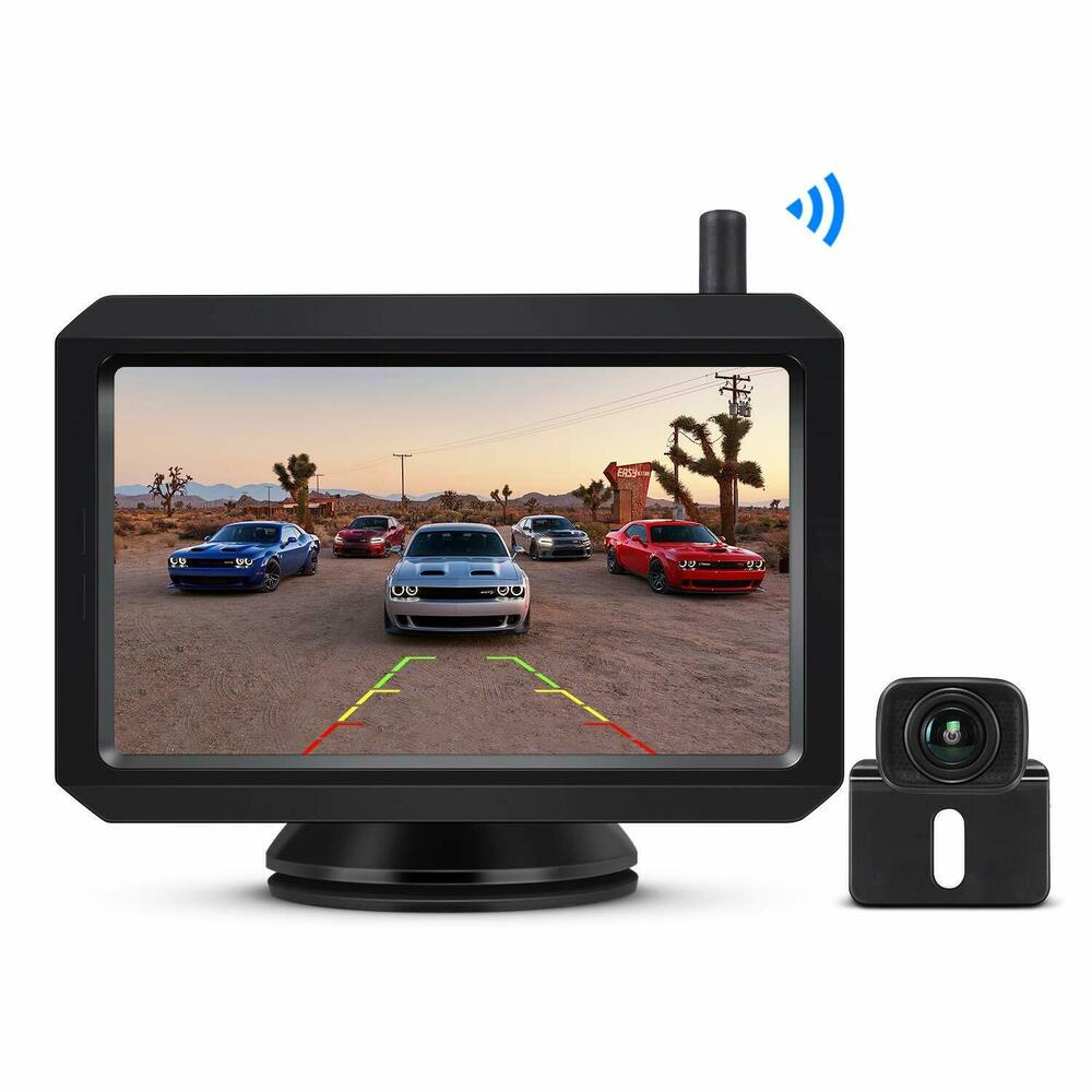 auto vox rear view mirror vedio monitor 4 3 lcd ccd parking camera system ebay. Black Bedroom Furniture Sets. Home Design Ideas