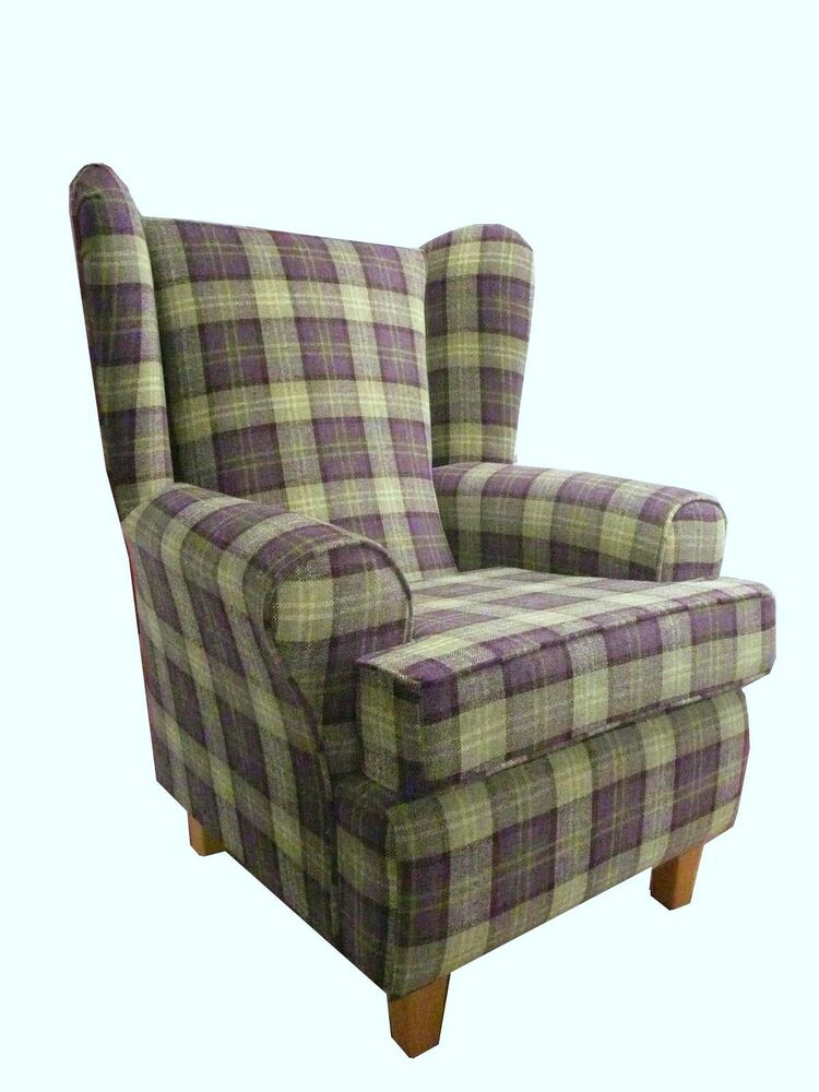 Queen Anne Chairs Fireside Chairs Wing Chair In Purple