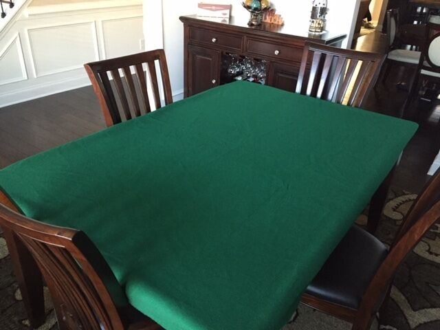 felt poker table covers texas hold em 39 tablecloth bonnet large rectangle table ebay. Black Bedroom Furniture Sets. Home Design Ideas