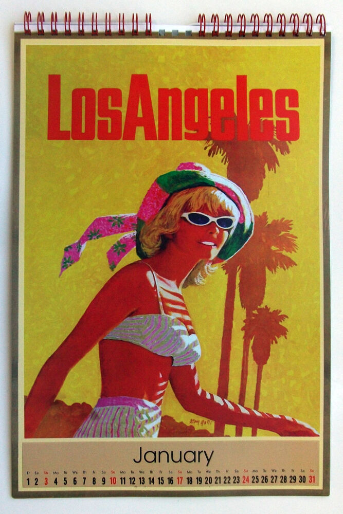 Calendar Vintage Travel Posters : Wall calendar pages a vintage travel posters pin