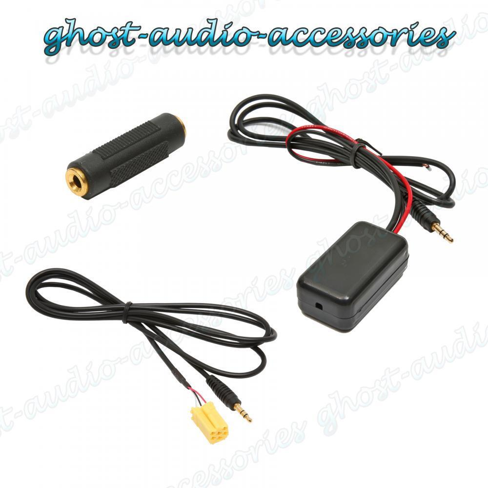 Bluetooth Aux Auxiliary Adaptor Lead Cable Music Streaming For Fiat Grande Punto Fuse Box Cover