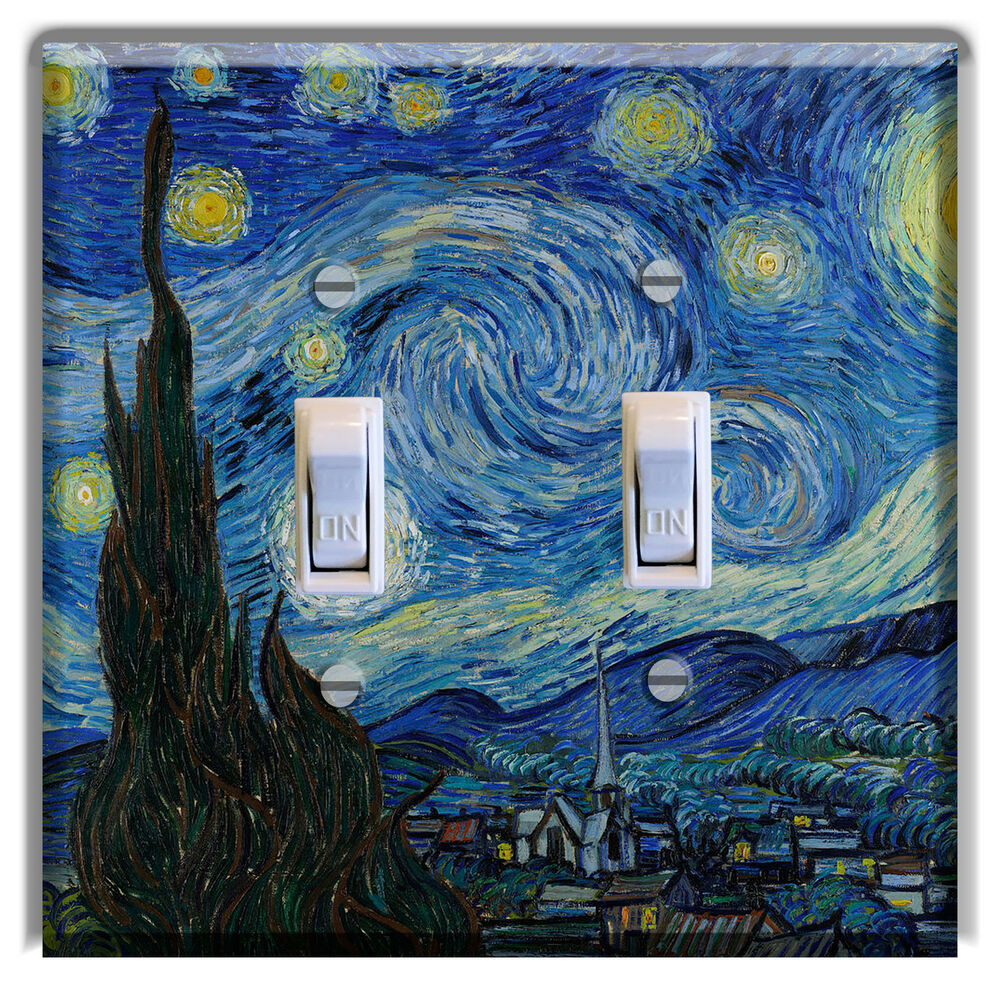 Van Gogh Starry Night Light Switch Plate Cover Wall Home
