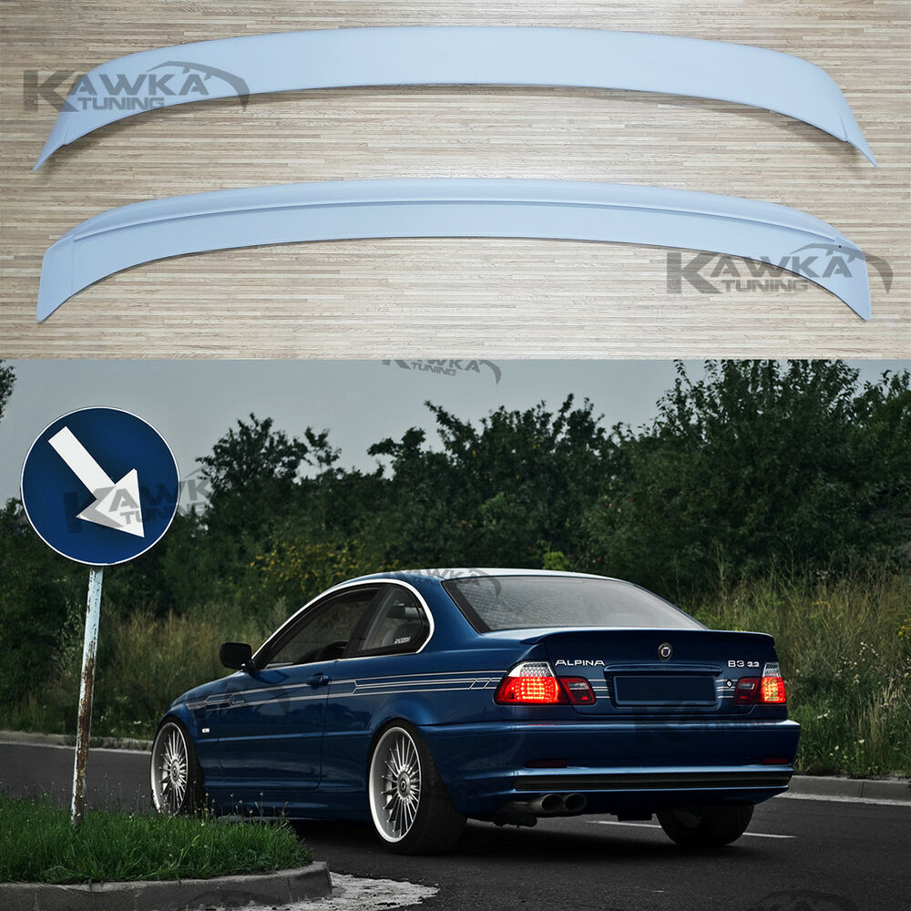 bmw 3 series e46 coupe alpina rear boot spoiler primed. Black Bedroom Furniture Sets. Home Design Ideas
