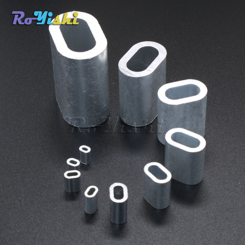 Aluminum cable crimps sleeves ferrule for snare wire