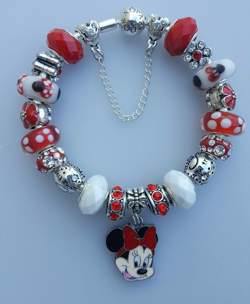Bracelet With Charms: Authentic Pandora Bracelet Minnie Mouse Bracelet
