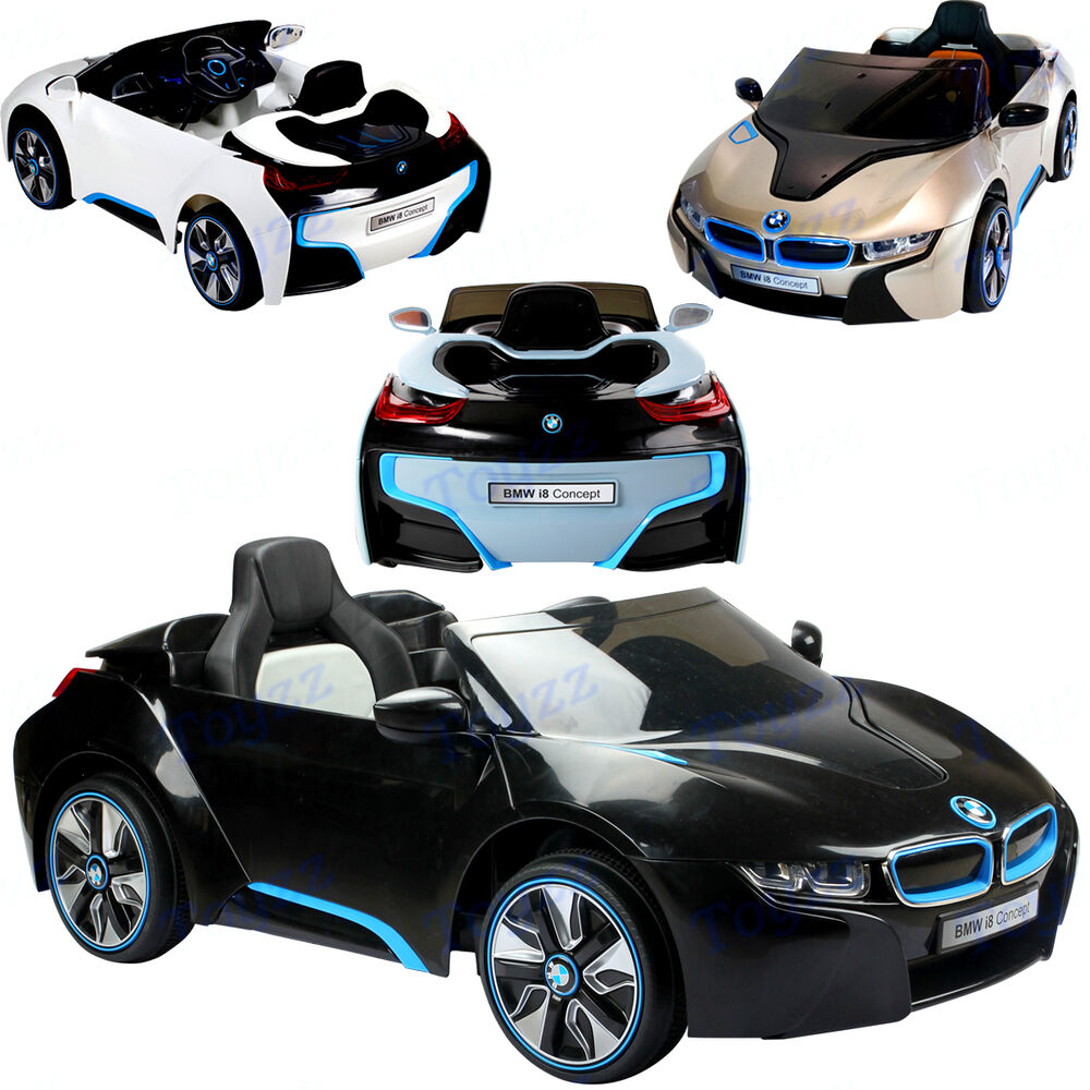 New Licensed Bmw I8 Ride On Toy Car 12v Twin Motor Parental Remote