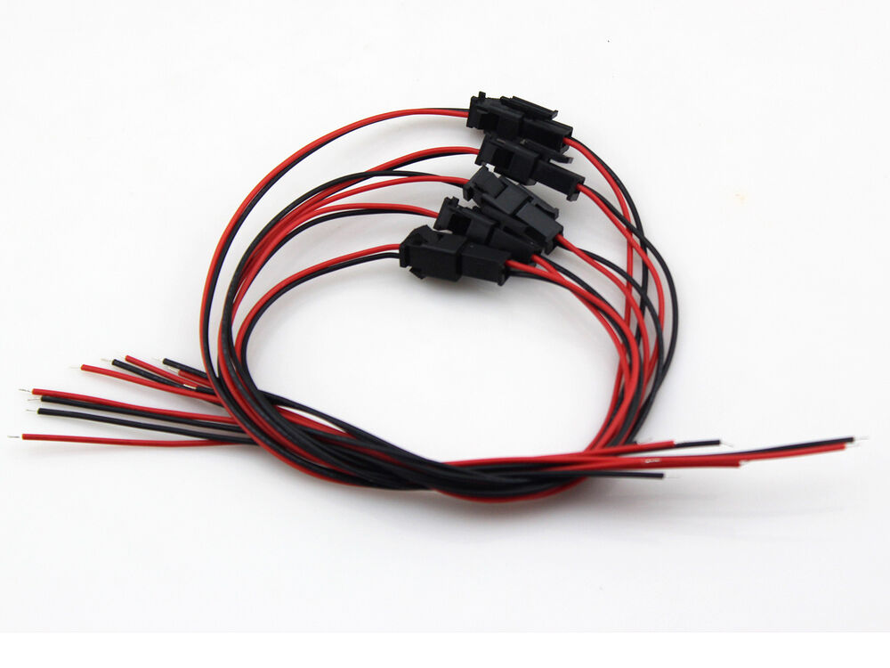 5x sm 2 pin led light connector female male plug double wire cable repair kit ebay. Black Bedroom Furniture Sets. Home Design Ideas