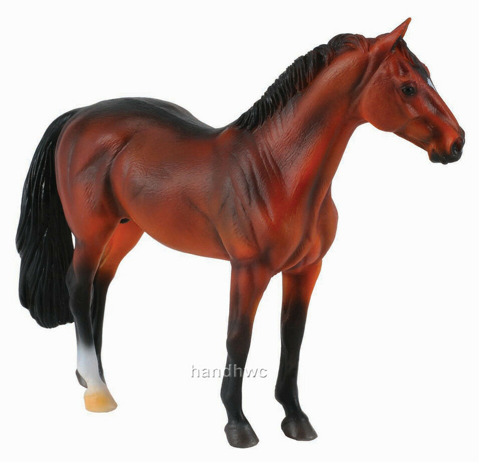 Toy Of Horses : Collecta bay hanoverian stallion toy model horse