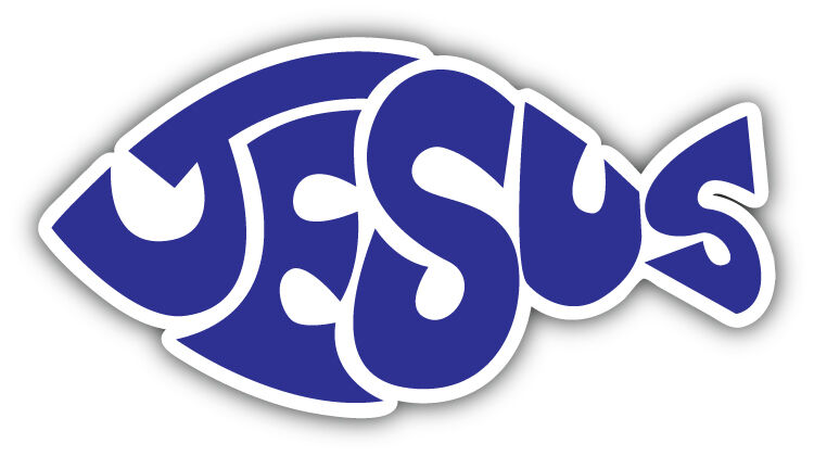 Jesus fish symbol car bumper sticker decal 6 39 39 x 3 39 39 ebay for Fish symbol on cars