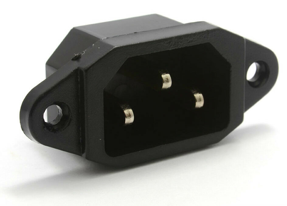Computer Power Plug : Iec male chassis c socket plug connector disco power