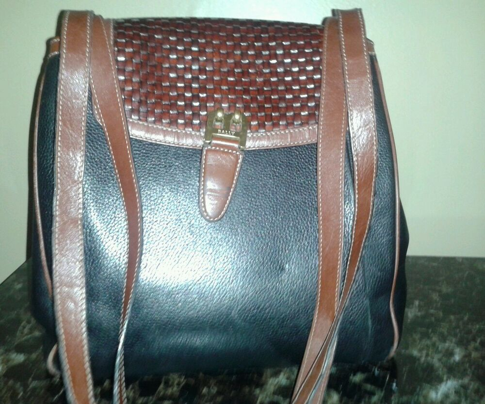 Vintage Bally Shoulder Leather Hand Bag Ebay