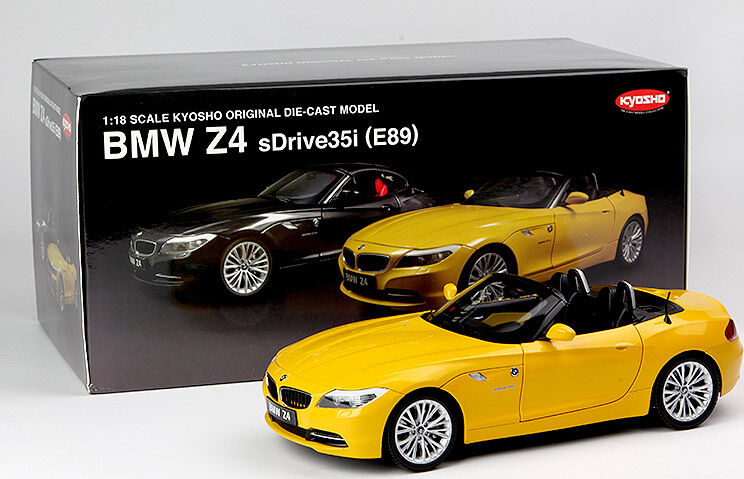 1 18 Kyosho Bmw Z4 E89 Convertible Die Cast Model Yellow