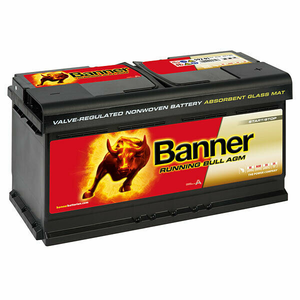banner running bull agm 92ah 12v autobatterie start stop. Black Bedroom Furniture Sets. Home Design Ideas