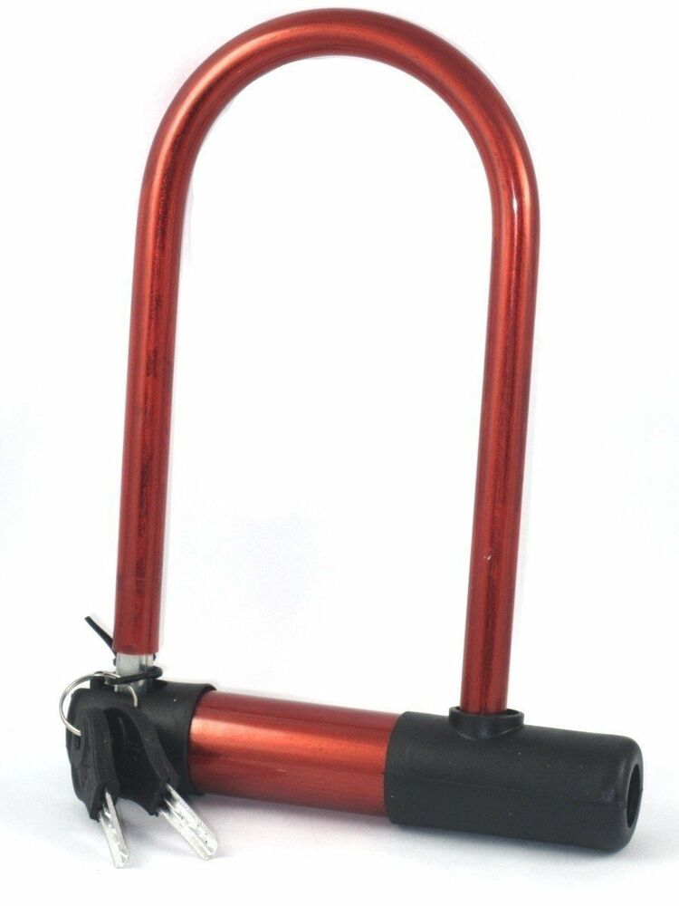 universal bike lock bicycle cycling steel u lock security with 2 keys ebay. Black Bedroom Furniture Sets. Home Design Ideas