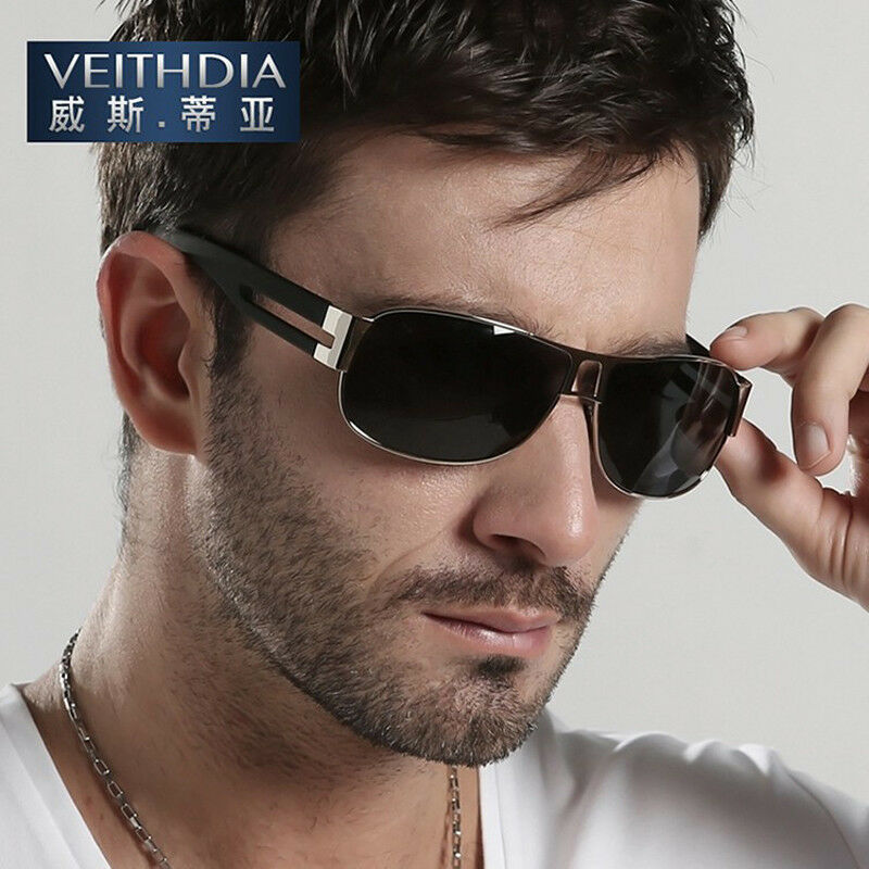 2f3d52e30f84 Details about HD-Polarized-Mens-Sunglasses-Outdoor-Sports-Pilot-Eyewear- Driving-Glasses-New