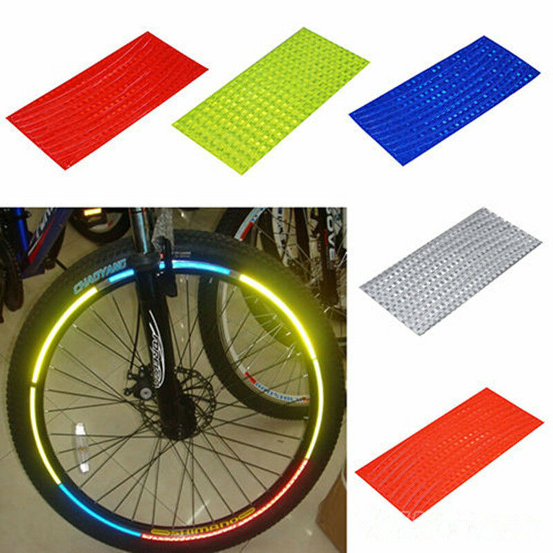 """Reflective Tape Motorcycle New Motorcycle Bicycle Reflective Wheel Rim Sticker Tape For 10""""~28 ..."""