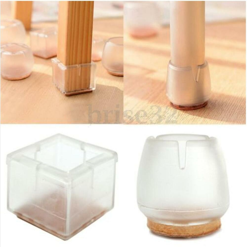 8pcs chair leg feet silicone caps pad furniture table for Floor furniture