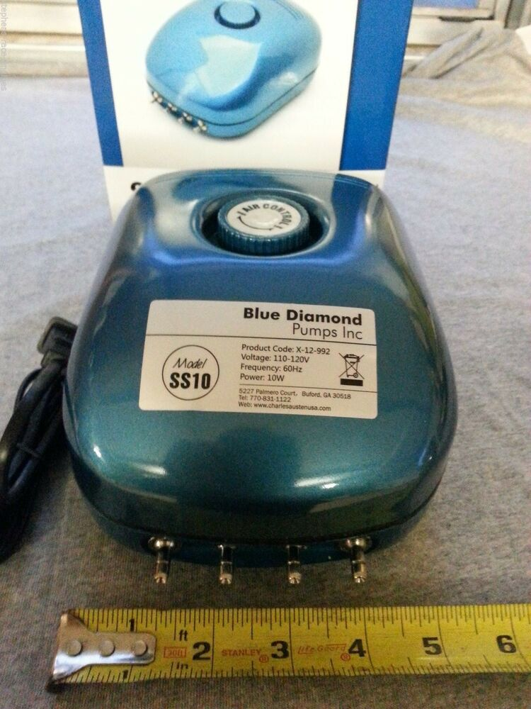 Blue diamond ss10 commercial grade hydroponics air pump for Hydroponic air pump