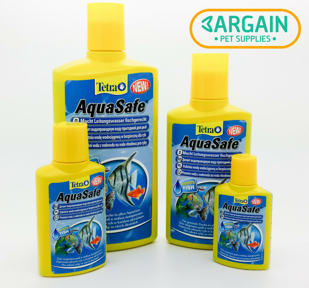 Tetra aquasafe all sizes tap water conditioner for Dechlorinator for fish