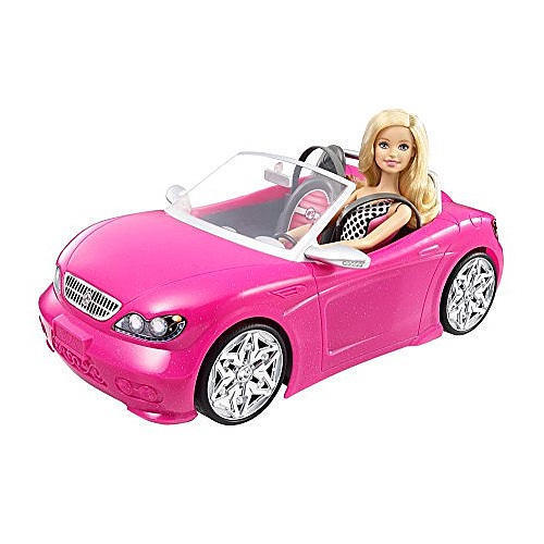 barbie doll car toy convertible pink girls vehicle glam. Black Bedroom Furniture Sets. Home Design Ideas