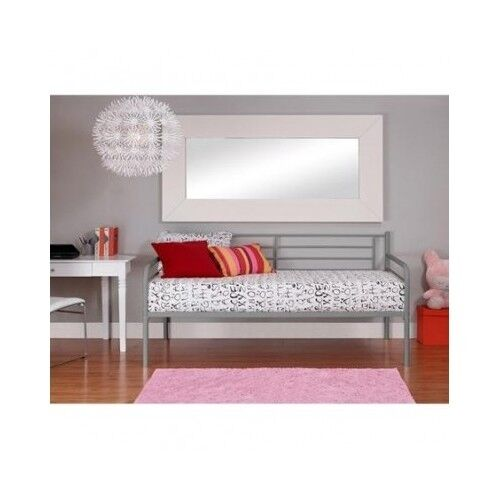 Twin Bed Daybed Metal Frame Platform Kids Bedroom Furniture Dorm Couch Home N