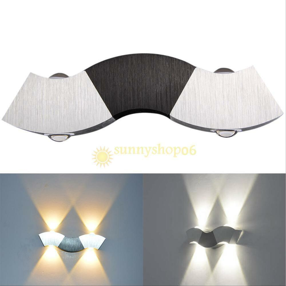 Wandstrahler Led Up Down : 3W 3 LED Up Down Wall Lamp Spot Light Modern Pathway Outdoor Sconce