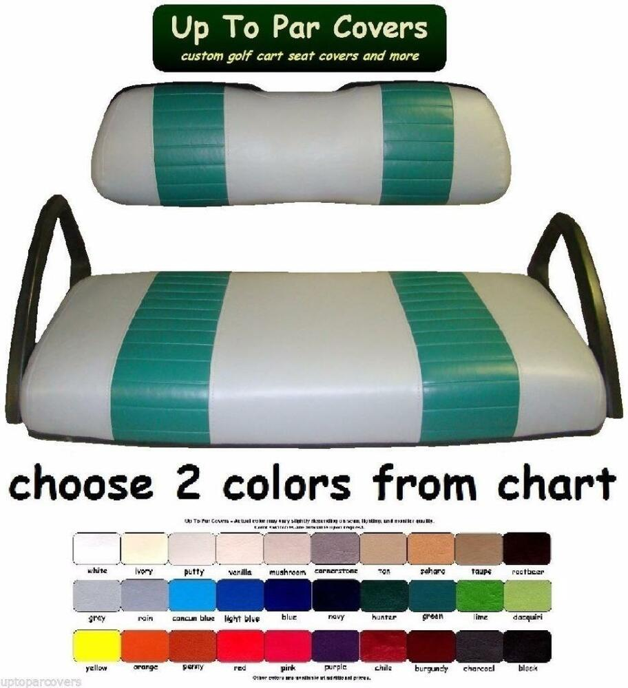 club car ds 2000 golf cart custom seat cover set 2 stripe staple on ebay. Black Bedroom Furniture Sets. Home Design Ideas