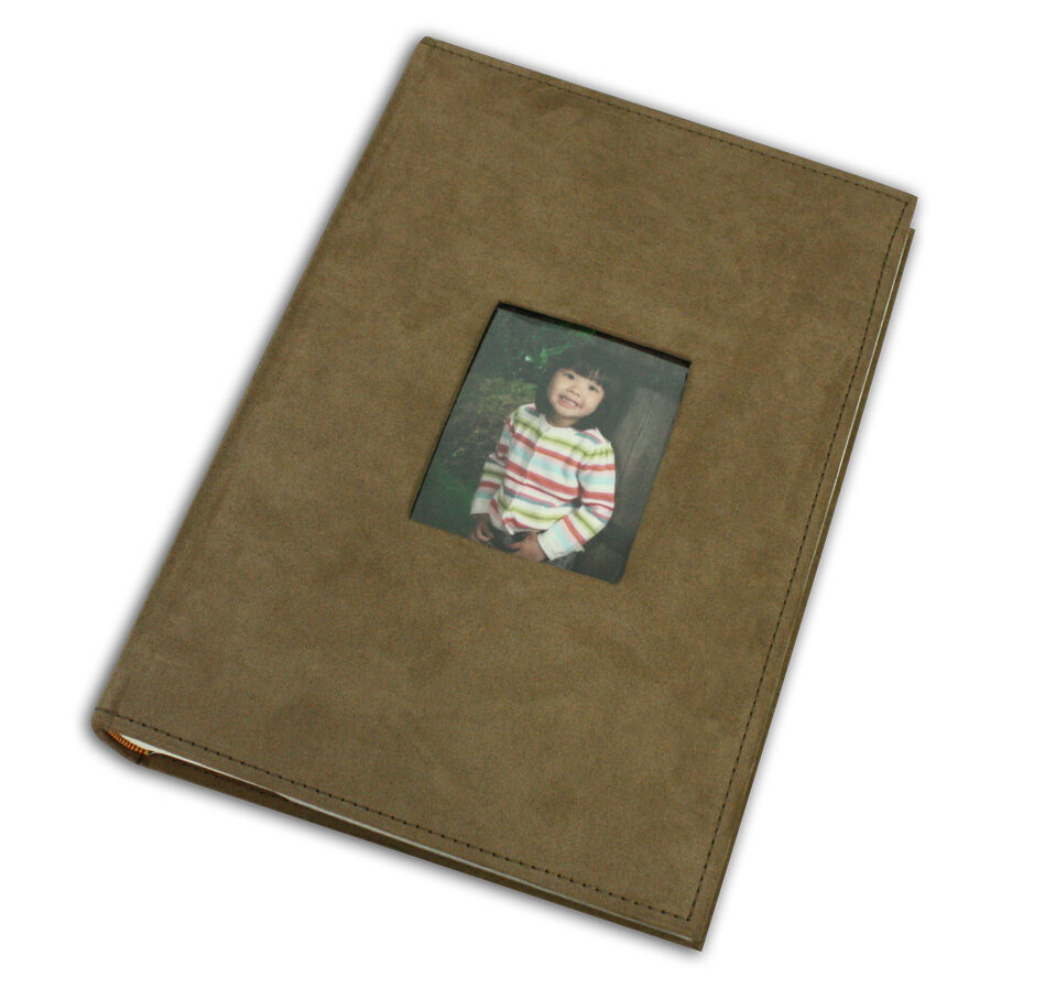 photo album holds 300 4x6 pictures 3 per page suede cover brown ebay. Black Bedroom Furniture Sets. Home Design Ideas