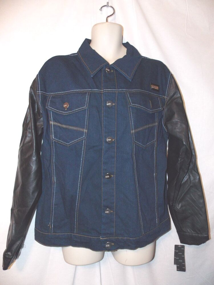 Mens coogi embroidered denim jeans jacket xxl nwt poly