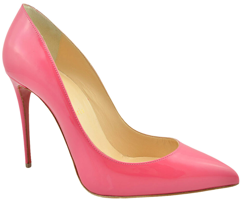 christian louboutin pink pigalle follies leather pointy pumps high heels ebay. Black Bedroom Furniture Sets. Home Design Ideas