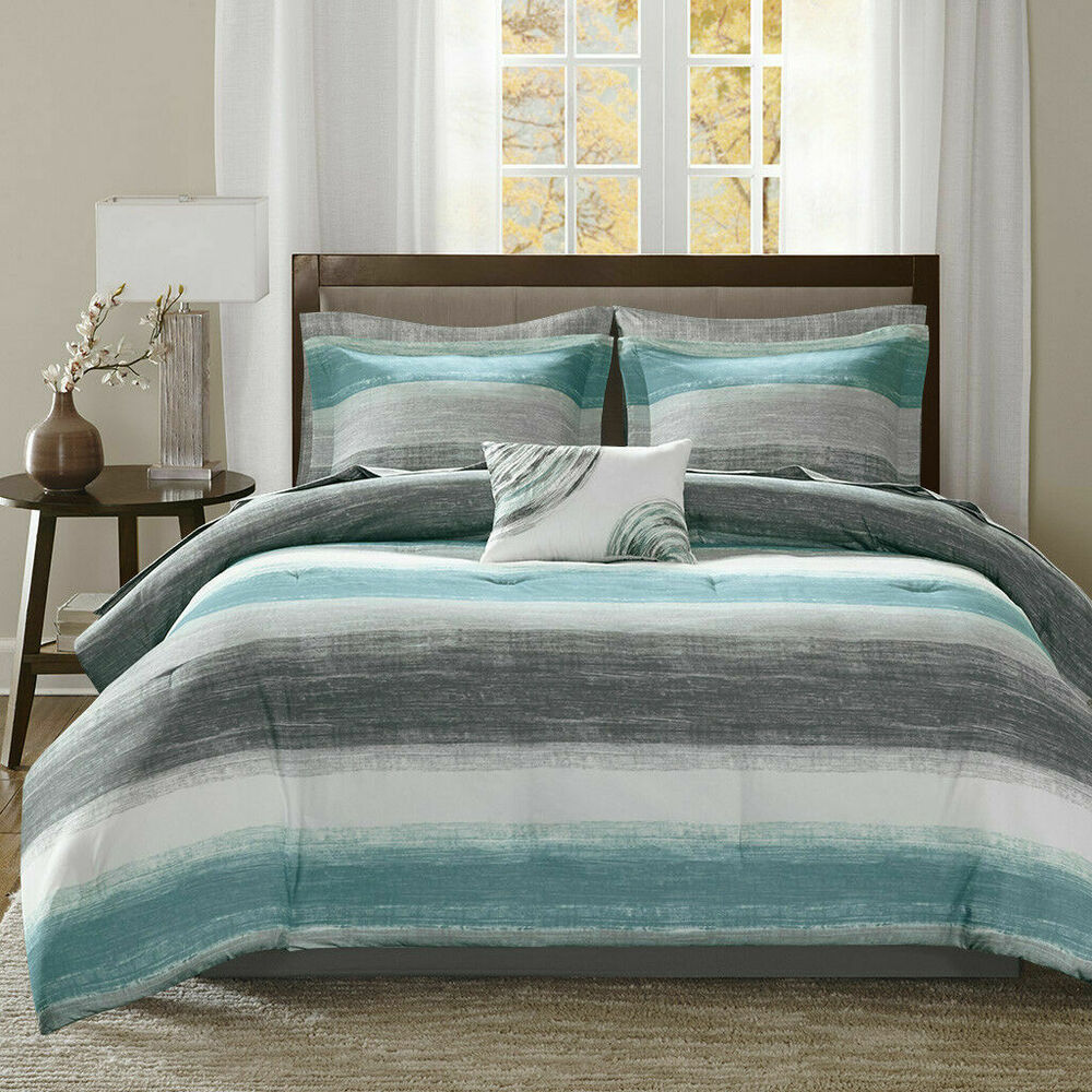white bedroom furniture suite also blue blanket plus gray | BEAUTIFUL MODERN ELEGANT BLUE NAVY SILVER GREY WHITE ...