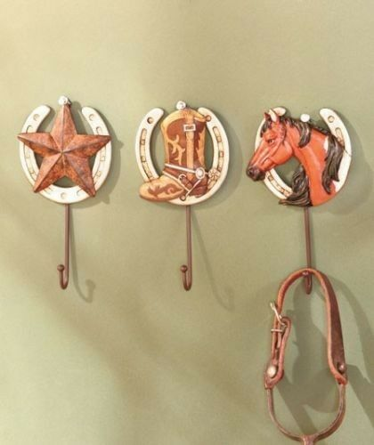 Western Decor Wall Hooks : Pc western cowboy horseshoe wall hooks d star boot