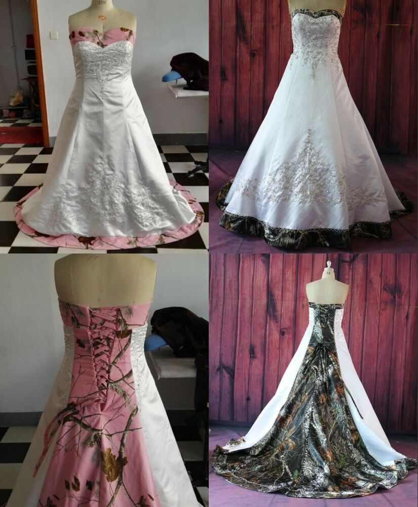 Camo Wedding Dresses: Gothic Camo Wedding Dress Real Images Bridal Gowns
