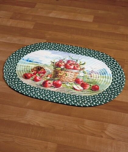 Bushel Of Apples Braided Accent Rug Classic Country