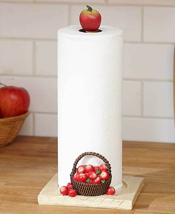 Red Apple Orchard Kitchen Paper Towel Holder Apple Bushels