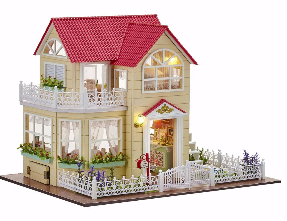 New dollhouse miniature diy kit dolls house with furniture for New home diy