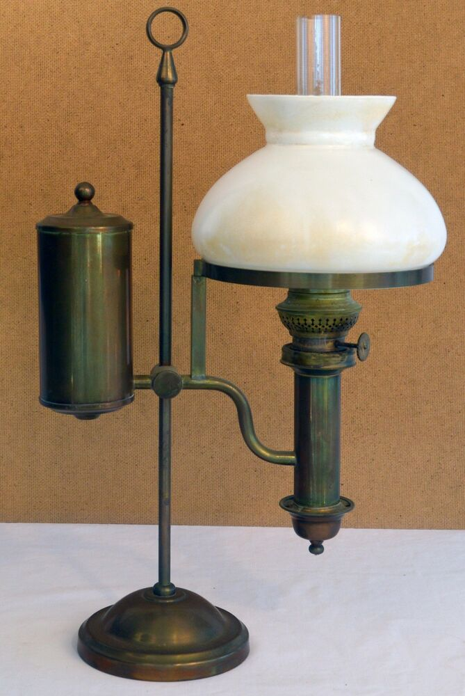 Antique Brass Student Oil Lamp EBay