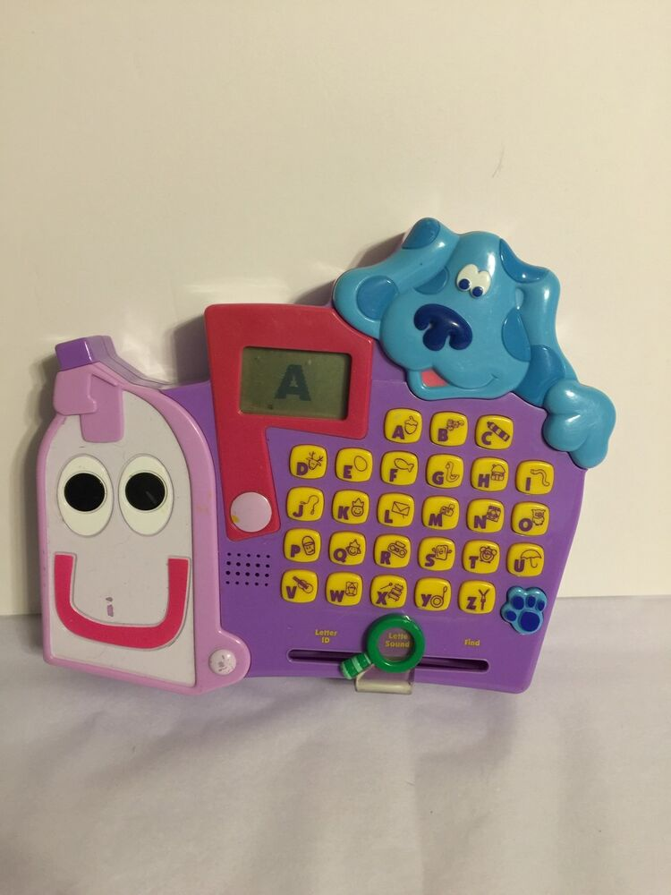 "2000 Talking Alphabet Toy 8"" Mattel Blue's Clues Blue ..."