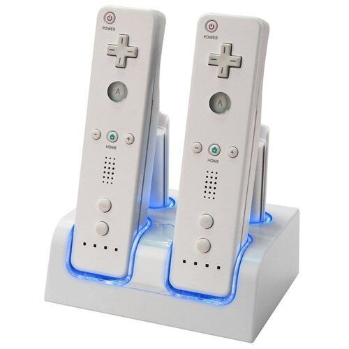 Dual Charging Stand With 2 2800mah Battery For Wii Remote