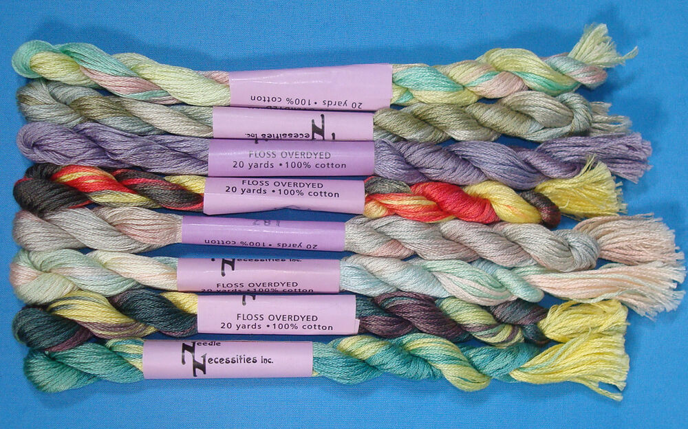 Needle Necessities Overdyed Floss 20 Yd Skeins 8 Colors To Choose From New Ebay