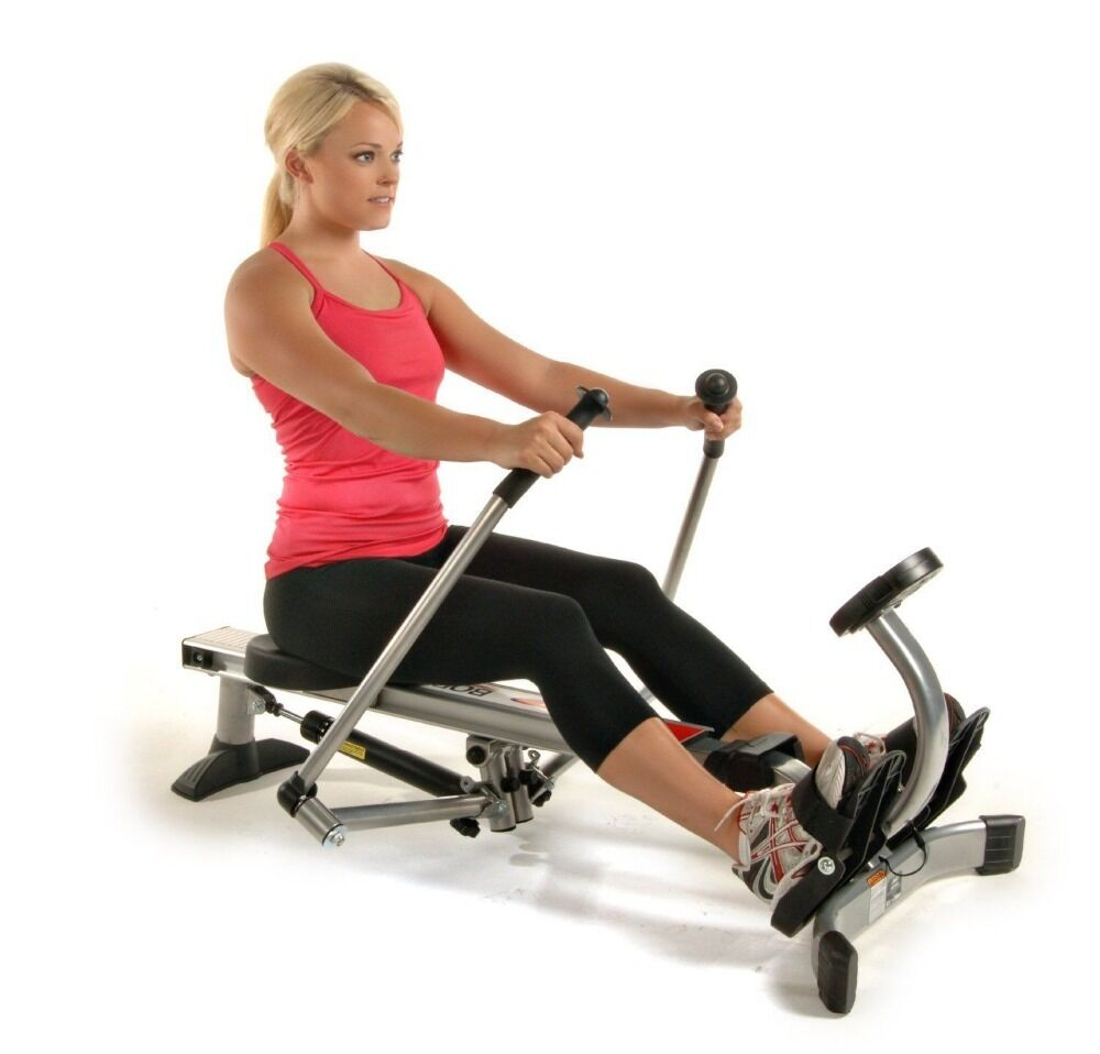 Fitness Machines: Stamina Rowing Machine Cardio Exercise Folding Fitness