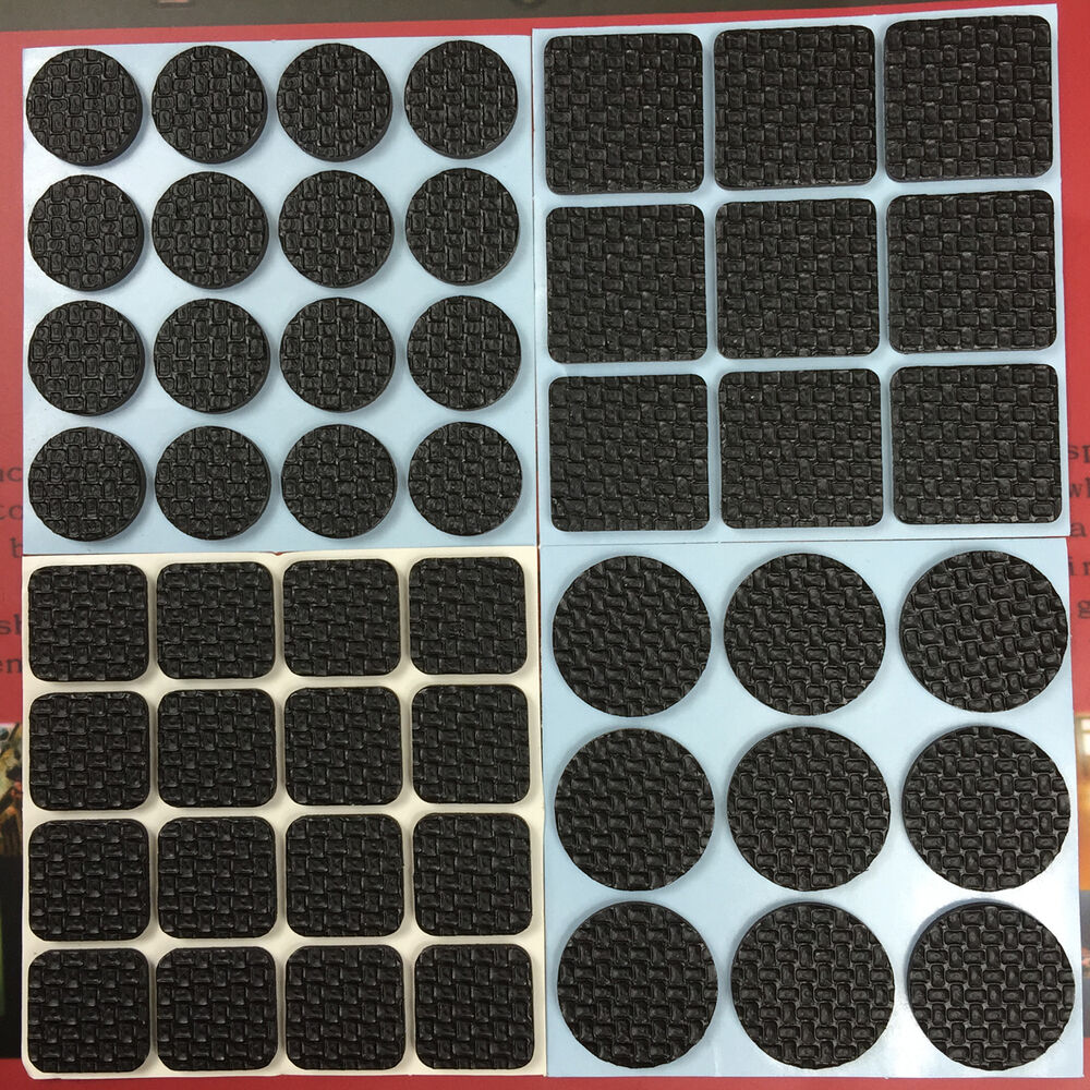 50 self adhesive floor protectors furniture rubber pads chair sofa table ebay - Outdoor furniture foot pads ...