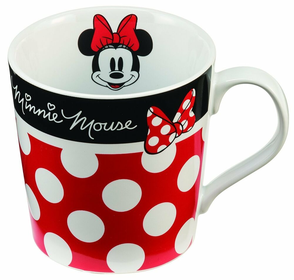 Kids Drink Disney Minnie Mouse Ceramic Mug Coffee Cup Safe