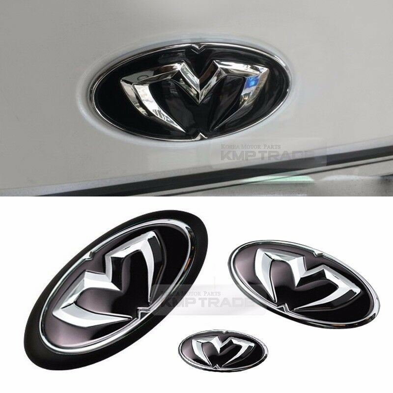 Front Grill Trunk Steering Wheel Emblem Set For Hyundai 2011 2016 Elantra Md Ebay
