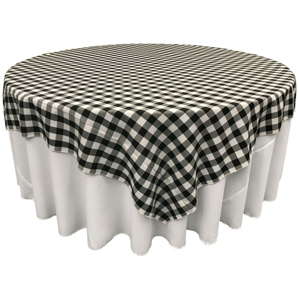 La Linen Square Checkered Tablecloth 90 By 90 Inch Made