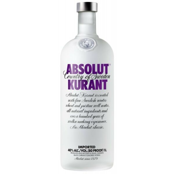 Vodka   Absolut Kurant 1L   100 cl  40 % vol.   Svezia